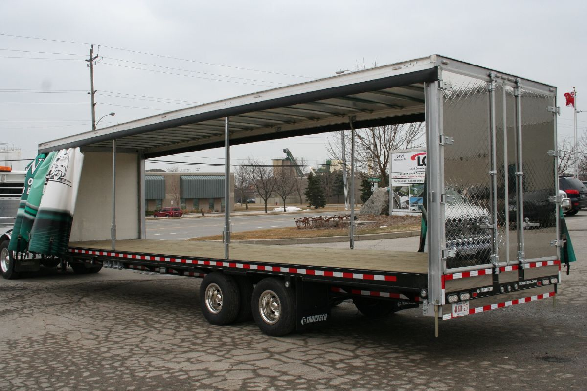 Retractable Canopy Rolling Tarps Curtain Side Trailers