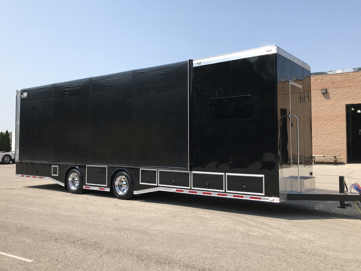Retractable Canopy Rolling Tarps Fender Trailers